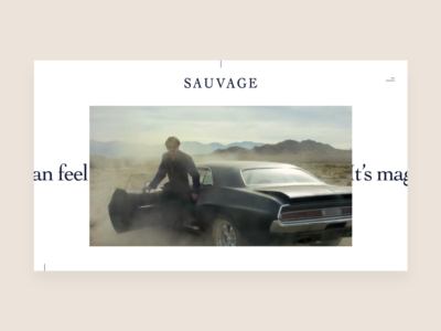 Dior Sauvage Shopping Experience - Video Page