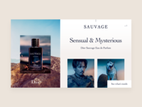 Dior Sauvage Shopping Experience - Perfume Page