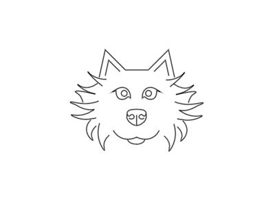 Dog line black animals animal graphics design vector dog logo