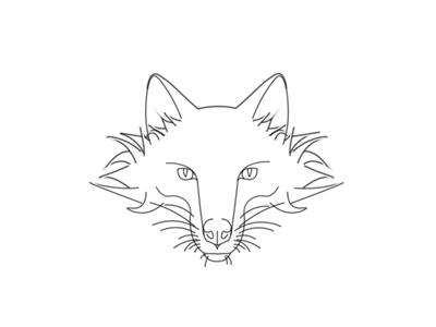 Fox black line vector animals animal graphics design concept logo fox