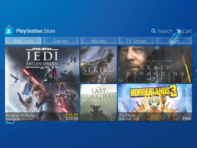 PlayStation Store - Glass Concept