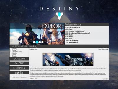 Website Concept - Destiny