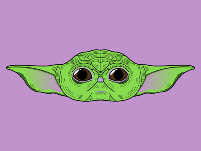Character Illustration - Baby Yoda