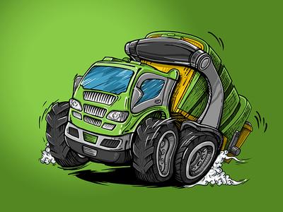 Garbage Truck garbage truck comics cartoon car art illustration