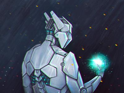 Fire Of The Soul future cyborg robot comics cartoon car art illustration