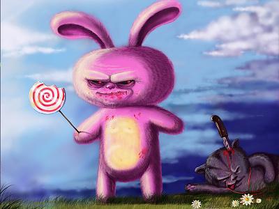 Sweet Tooth horror candy bunny comics cartoon car art illustration