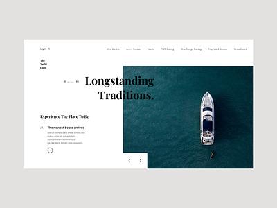 The Yacht Club Concept club minimal yacht classy clean website water minimalistic webdesign