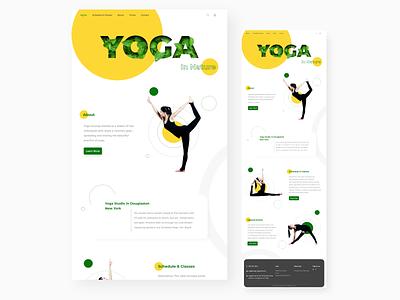 Yoga Web Design website design asana beauty online site design nature illustration nature yoga studio yoga pose trend webdesign modern minimal photoshop xd design ux ui web yoga