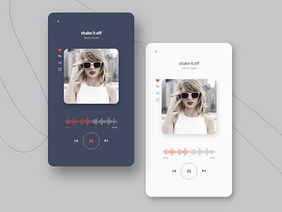 Music Player App Design song poster application dark mode soundwave soundcloud sound trend music player ui modern music app design mobile ui  ux ui minimal song music player music app xd app