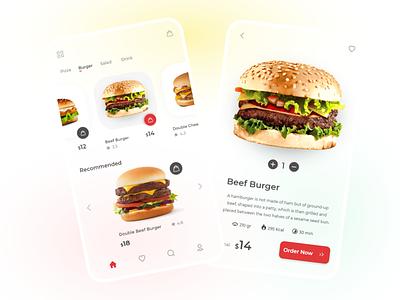 Food App UI fastfood ux online illustration uiux mobile minimal xd ui app food app food