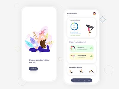 Yoga App yoga studio app design online fitness mobile design mobile app mobile sport yoga pose yoga app yoga minimal app xd