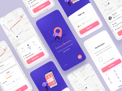 Taxi Booking App fantasy coloring vehicle ui drive graphic design illustration car driving booking taxi app online trend modern minimal