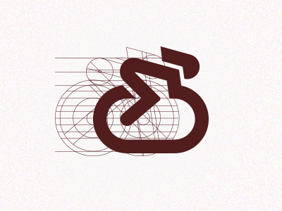 Wheels on Track bicycle bike fixed-gear gear fixed fixie icon logo icons guides guidelines simple line lines