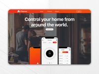 Smart Thermostat Landing Page Concept