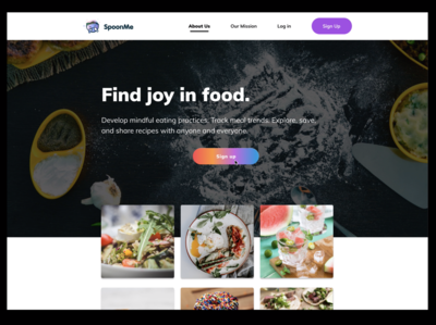 SpoonMe Landing Page