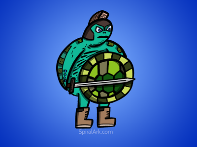Battle Turtle profile image illustration branding logo design