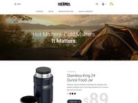 Online Shop Home Page Design