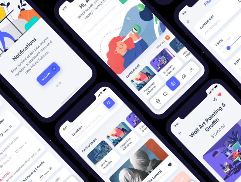 Gazet Reselling E Commerce App Design UI Kit