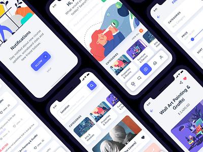 Gazet Reselling E Commerce App Design UI Kit app ui ux ecommerce gazet app ui kit app design ecommerce ui kit