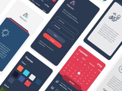 Marwin Task Management App UI Design