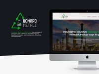UI/UX and Web design - Bonaro Metali