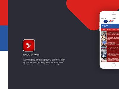 UI/UX design - YU Radio Wien APP radio mobile radio app mobile app design mobile design mobile uiux design mobile app desgin web design uiux