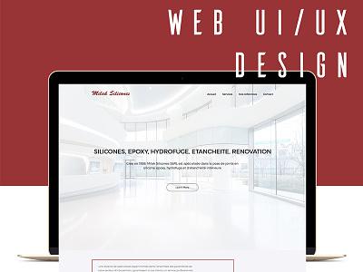 Web UI/UX design - Milak Silicones Luxembourg web design epoxy silicones luxembourg ux ui web design