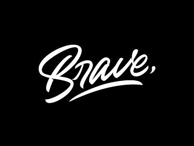 Brave branding typography logo logotype handlettering