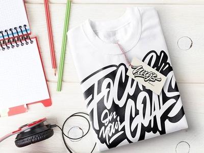 Fokus On your logotype tshirt hellodribbble typography handlettering