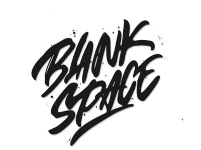 Blank space design vector logo hellodribbble logotype tshirt typography handlettering
