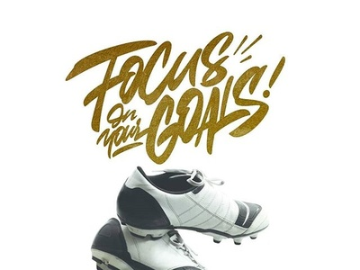 Focuson your goals logo logotype tshirt branding typography handlettering