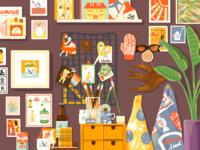A Corner drawing illustration