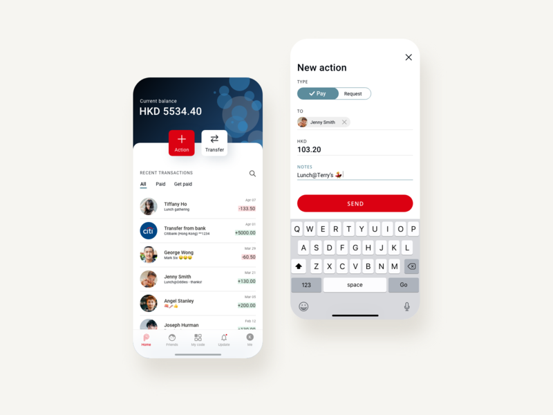 Payme app redesign redesign revamp hsbc