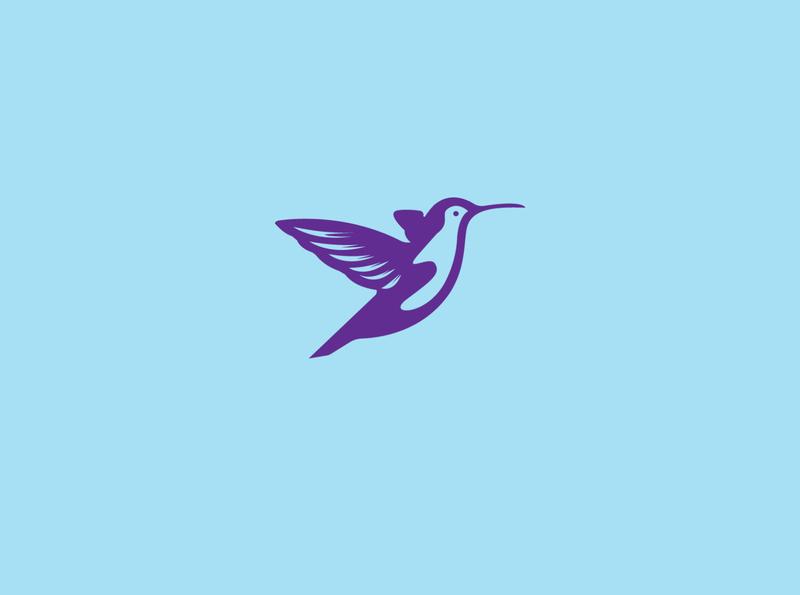 Humming bird logomaker logotype logomark craft colibri negative space logo phoenix dove bird animal commerce monoline icon vector illustration branding app company design logo