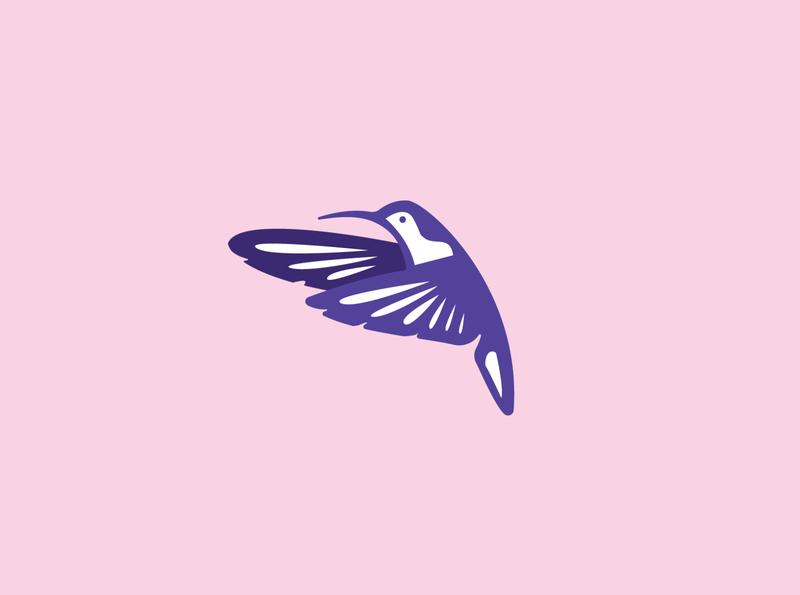 colibri character logomarks logodesign bird logo humming bird colibri nature media marketplace negative space logo animal monoline illustration app branding company design logo