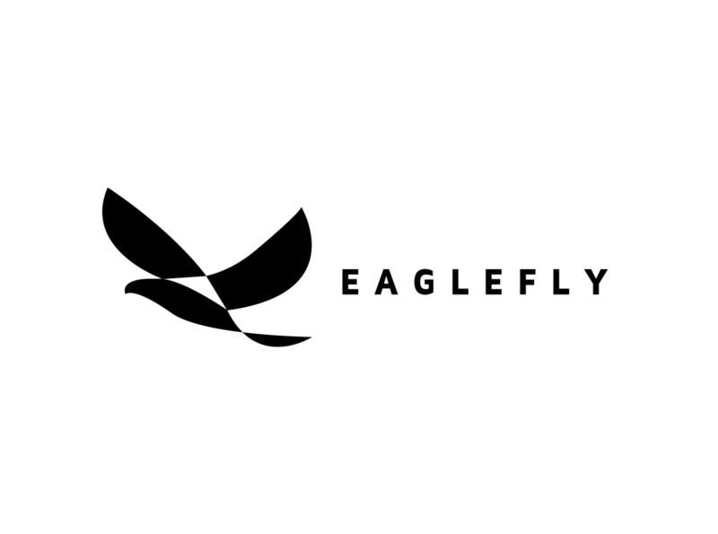 eagle fly logomark community music artificial intelligence technology logo negative space logo falcon ecommerce flyer eagle shop web media animal monoline illustration branding company design logo