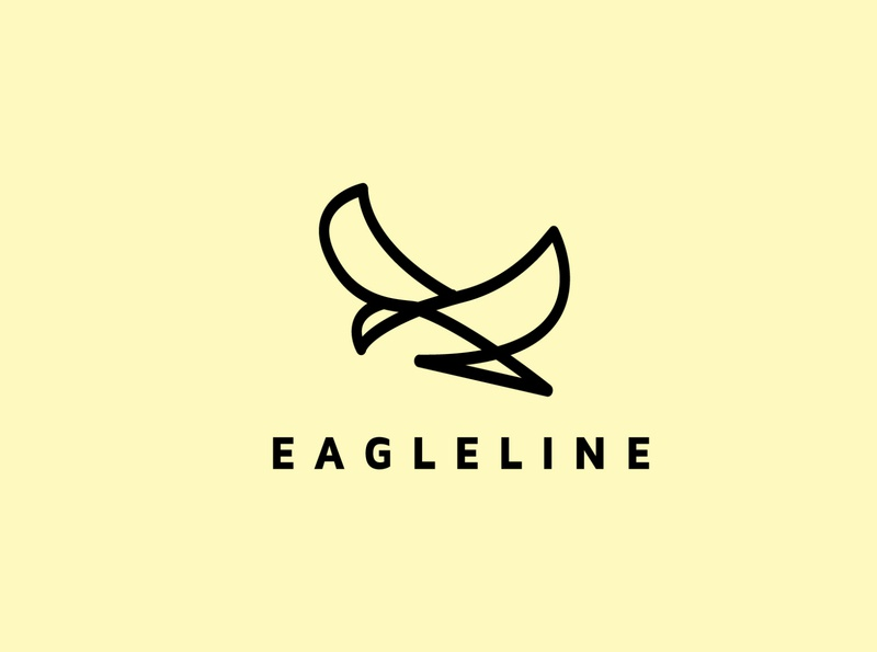 eagle line techno artificialintelligence technology college education ecommerce film logo falcon media animal commerce monoline icon illustration branding company design logo line eagle logo