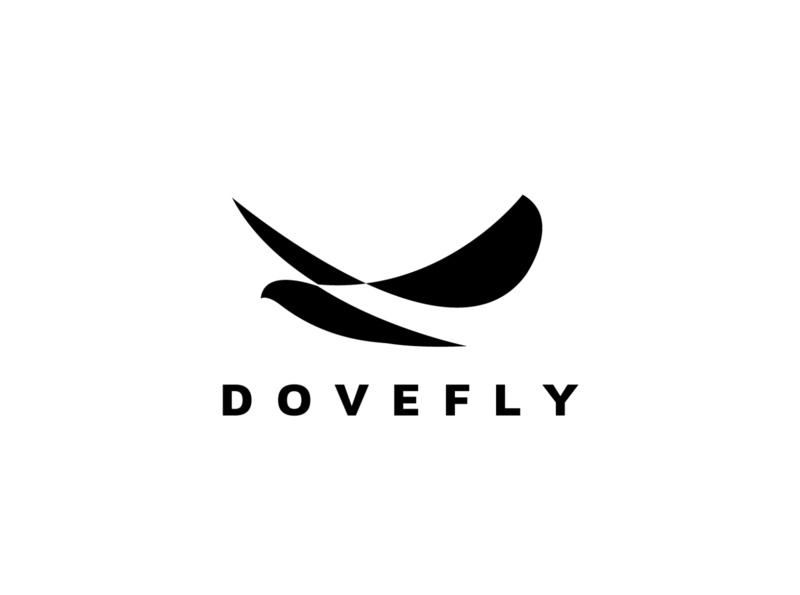dove fly tech logo sofware negative space logo film festival eagle logo falcon logo dog dove logo media animal commerce monoline vector illustration app branding company design logo
