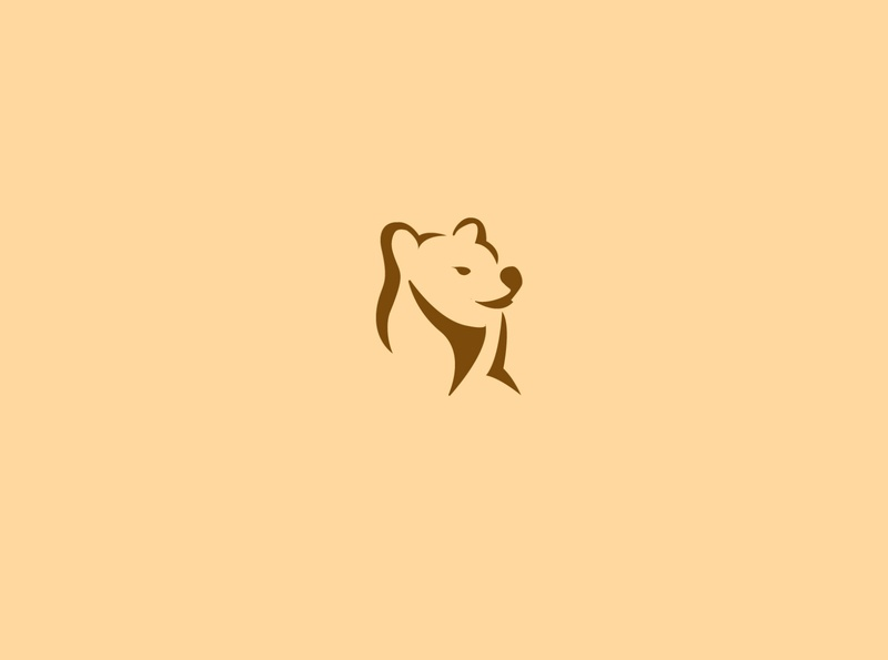 bear head logo tiger lion bear llogo animal art negativespace beard animals bear animal commerce monoline icon vector illustration app branding company design logo