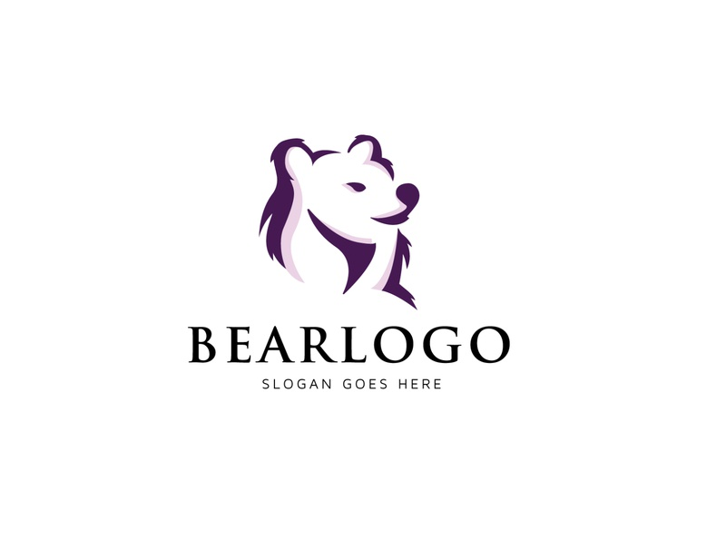 BEAR LOGO vector logo negativespace esportlogo lion logo vintage logo wild tiger logo film media tech bear logo animal commerce monoline vector app branding company design logo