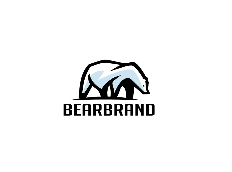 Bear Logo freeze fat creative cool cold blue big beast bear animals media animal commerce monoline illustration app branding company design logo