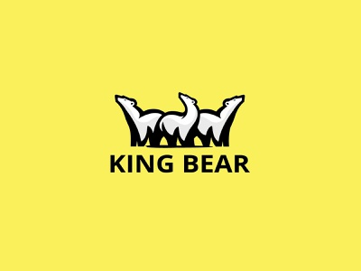KING  BEAR masculine lion king hokey fur face crest beast bear basket baseball badge animals animal monoline vector illustration branding company logo