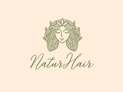 natur hair logo design healthcare eyecatching minimalist simple logo wellness beautycare hairstyle hair cut salon hair beauty leaves tree ecommerce nature monoline vector illustration company branding logo