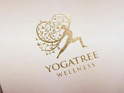yoga tree logo yoga logo brand identity simple logo modern logo vintage oak tree logo woman illustration bird butterfly logo gold foil logomaker beauty salon mascot logomark sport healthy wellness logo young yoga