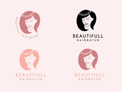 beautifull hair nature logo logo mark minimalist logo logodesign logo design hair salon hair logo salon logo minimalist company monoline vector illustration branding logo