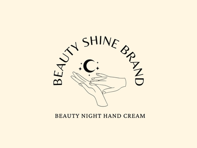 Night cream cosmetic logo minimalist line art vector design illustration logo branding company