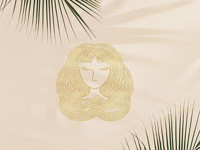 feminine logo logomark graphic design app media web woman beauty elegant luxury lineart monoline feminine vector illustration design company branding logo
