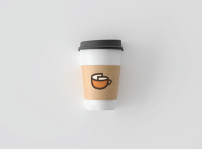 coffee glass + paper cafe logo simpe modern paper coffee food and drink food commerce icon shop branding illustration vector design company app logo