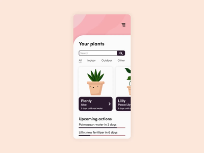 Lïf (animated UI) - plant care mobile app concept adobe after effects adobe illustrator ui ui animation animation mobile app plant ui design adobe xd