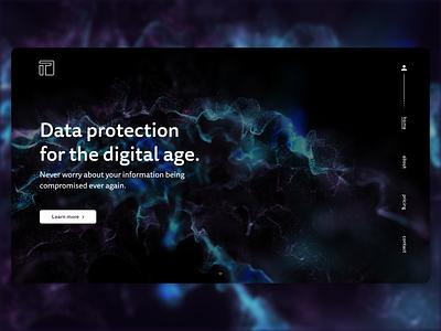 T Data - UI landing page concept xparticles cinema 4d 3d product page ui ui design adobe xd